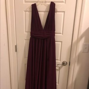 Lulus Burgundy/Maroon Maxi Bridesmaids Dress